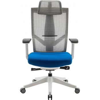 Aero Chair, Ergonomic Design, Premium Office & Computer Chair with Multi-adjustable features by Navodesk - Sapphire Blue | AERO-SB