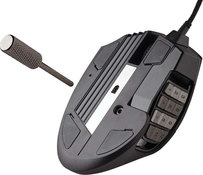 55297d67f0c Corsair Scimitar Pro RGB Multi-Colour Backlit Performance 16000 DPI Optical  Gaming Mouse - Black