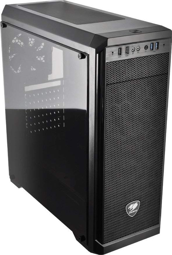 Cougar MX330 Mid Tower Case with Full Acrylic Transparent Wi