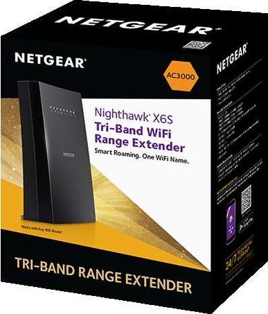 Netgear WiFi Range Extender EX8000 100EUS AC3000 Nighthawk X6S Desktop + 4x  GbE NG EX8000 100EUS