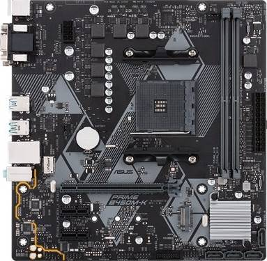 Asus Prime B450M-K AMD AM4 mATX Motherboard with LED Lighting, DDR4 3200MHz, M.2, SATA 6Gbps and USB 3.1 Gen 2   90MB0YP0-M0EAY0