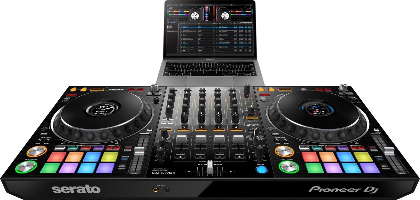 Pinoneer DDJ-1000SRT 4-channel Performance DJ Controller For Serato DJ Pro,  206 Mm Durable Aluminium Jog Wheel, 2 USB B Ports | DDJ-1000SRT