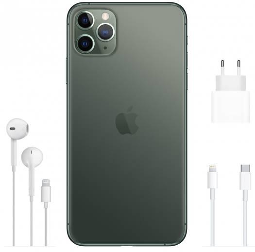 Apple iPhone 11 Pro Max 64GB Midnight GREEN Dual Nano Sim with FaceTime HK Specs (2 Pin Plug Adapter) | MWF02ZA/A
