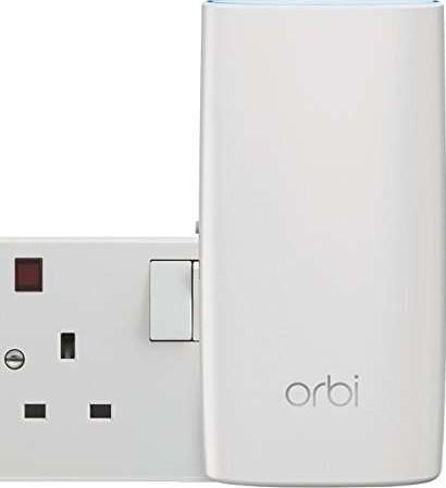 NETGEAR RBK30 100UKS Orbi Whole Home Wi Fi System Upto 3,500 sq ft of Wi Fi  Coverage, AC2200 Tri Ba