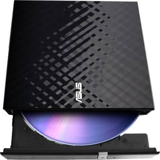 ASUS SDRW-08D2S-U/B 8X Slim External DVD+RW Optical Drive (Black) | SDRW-08D2S-U/BLK