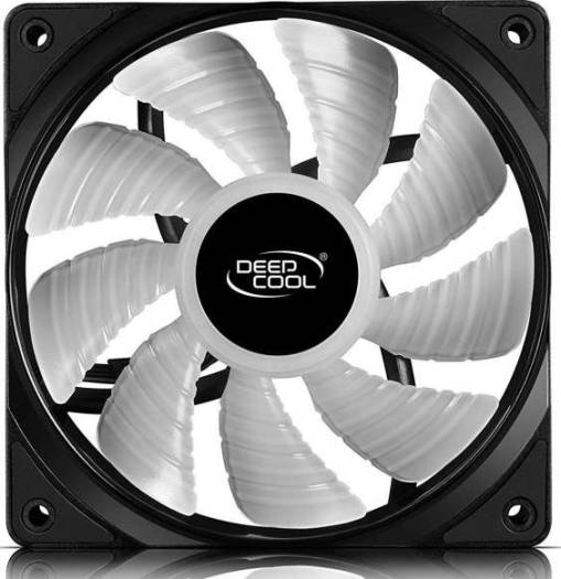 DEEPCOOL RF120 3in1 3X120mm RGB LED PWM Fans with Fan Hub and Extension, Compatible with ASUS Aura Sync | DP-FRGB-RF120-3C