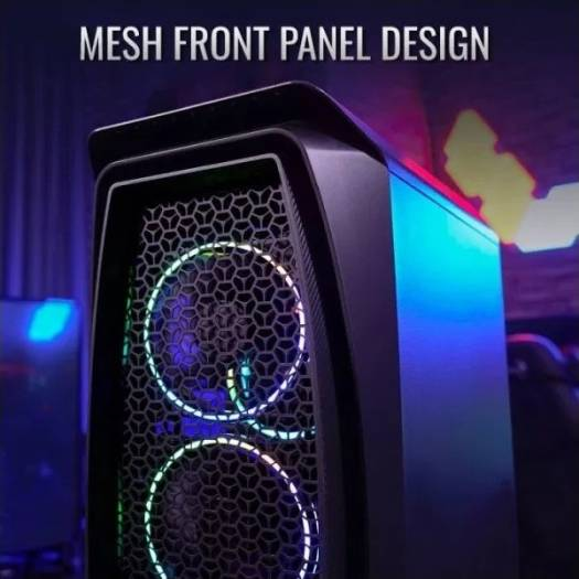 AeroCool Aero One Mid Tower Gaming Case, Support Radiator 360mm, Mesh Front Panel Design | Duo-G-BK-V1
