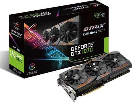 ASUS ROG Strix GeForce GTX 1070 PCI Express 3.0 GDDR5 O8GB 8008MHz 256