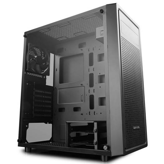 Deepcool E-SHIELD Tempered Glass Mid-Tower E-ATX Case,1×120mm black fan pre-installed, Tempered glass side panel |  DP-ATX-E-SHIELD