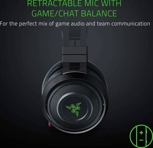 Razer Nari Ultimate: Thx Spatial Audio 2.4Ghz Wireless Audio Gaming Headset Works With PC, PS4, Xbox One, Switch, & Mobile Devices | RZ04-02670100-R3M1