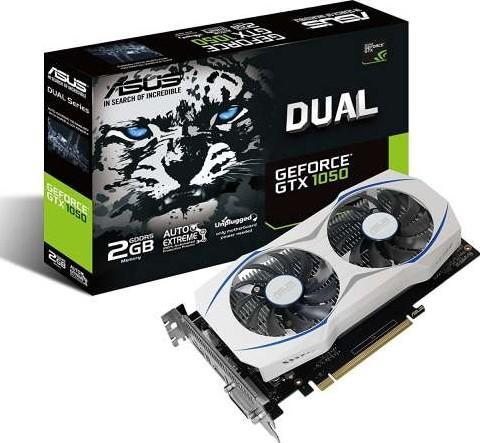 ASUS Dual series GeForce GTX 1050 OC Edition 2GB GDDR5, PCI Express