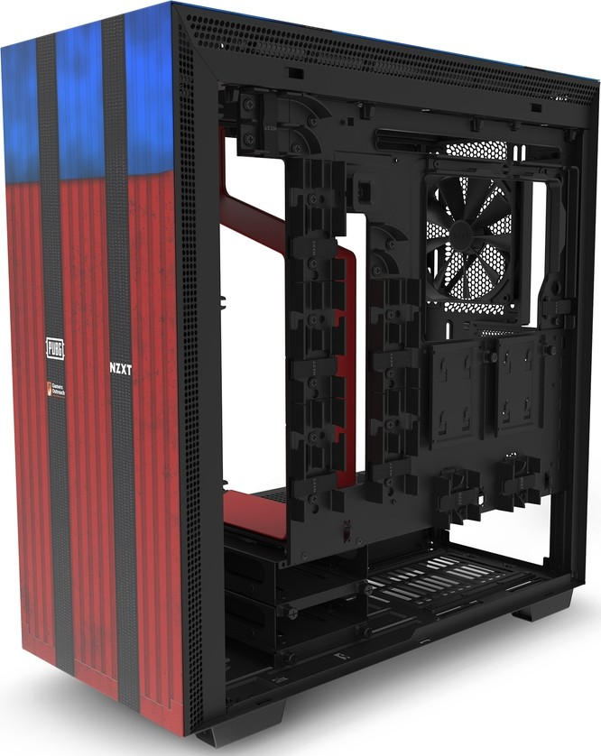 NZXT H700 PUBG CRFT Limited Edition Mid Tower ATX Computer Case Red Blue CA  H700B PG