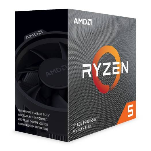 AMD Ryzen 5 3600 3rd Gen, AM4, Zen 2, 6 Core, 12 Thread, 3.6GHz, 4.2GHz Turbo, 32MB L3, PCIe 4.0, 65W, CPU, with Wraith Stealth Cooler | 100-100000031BOX