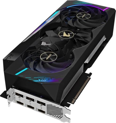 Gigabyte GV-N3090 Aorus X-24GD AORUS GeForce RTX™ 3090 Xtreme 24G - 24 GB - 2.7 Slots, 384bit, GDDR6X, Graphic Card   GV-N3090AORUS X-24GD