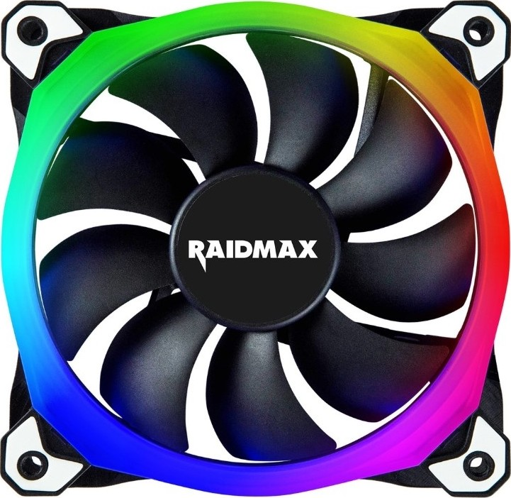 Raidmax NV-R120B RGB 120mm Case Fan, 120x120x25mm RGB Fan, Low Noise,  Compatible With Asus Aura Sync, MSI Light Sync, Gigabyte RGB | NV-R120B