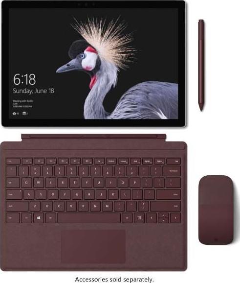 Microsoft Surface Pro 5, 7th Generation Intel Core i5 7300U, 8GB RAM, 256GB  SSD, Windows 10 FJX 00