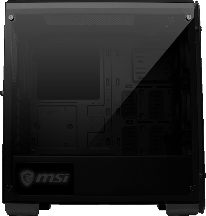 MSI MAG PYLON 45 Liter Mid-Tower ATX Computer Case (Mystic Light Sync RGB,  Triple Tempered Glasses) | MAG-PYLON