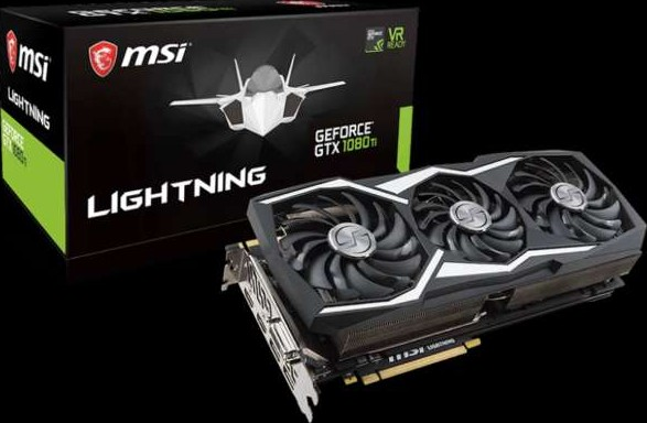 MSI GEFORCE GTX 1080 TI Lightning Z TRIFROZR Fan, Extreme Clocks and Beefy  PCB Graphic Card 912 V