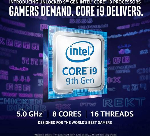 Intel Core i9-9900K Desktop Processor 8 Cores up to 5.0 GHz, 16 Threads, Turbo Unlocked, 16 MB Cache, LGA1151, 300 Series 95W, With Intel UHD Graphics 630 | BX80684I99900K