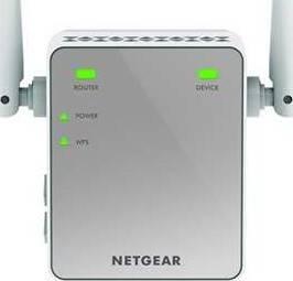 NETGEAR 11AC 750 Mbps (300 Mbps + 450 Mbps) Dual Band Gigabit Wi-Fi Range Extender with External Antennas (Wi-Fi Booster) | NG-EXT-EX3700-100UKS
