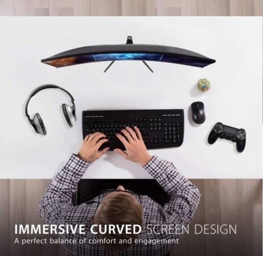 Viewsonic VX2718-PC 27 Inch, (1920 x 1080) 165Hz, 1ms MPRT, 1500R Curved Gaming Monitor I VX2718-PC-MHD