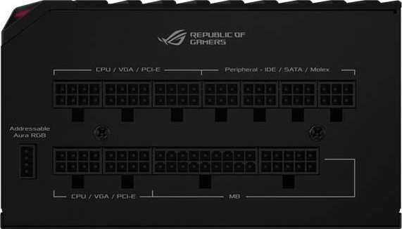 ASUS ROG Thor 850 W Platinum Power Supply Unit with Aura Sync and OLED  Display, 80 Plus Platinum Cer