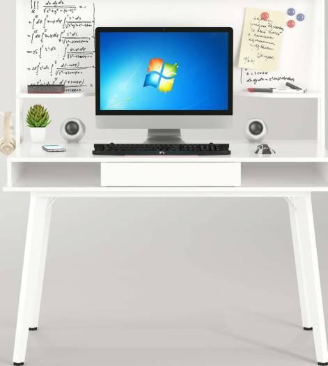 Mahmayi Ultimate CT 3610 Modern Computer Table (White)