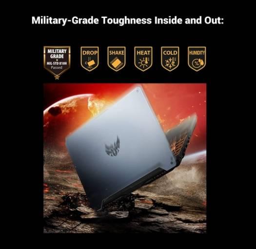 Asus TUF Gaming A15 FA506II-HN149T Gaming Laptop (Gray Metal) -AMD R7-4800H 2.9 GHz,16GB RAM,512 GB SSD, Nvidia GeForce GTX1650Ti 4GB,15.6 inches,144Hz Refresh Rate, Windows 10   FA506II-HN149T
