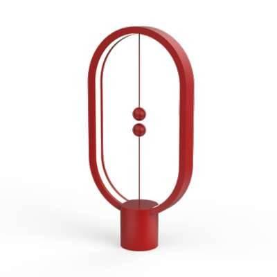 Allocacoc DN0040RD Heng Balance Lamp Ellipse Plastic USB - Red | DN0040RD/HBLEUB