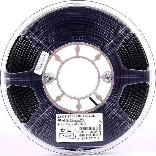 eSun PLA+ 3D Printer Filament 2.85mm, 1kg/roll - Black