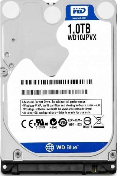 Western Digital 1TB Scorpio Blue 5400 RPM 8MB Cache SATA 3.0Gb/s 2.5 Internal