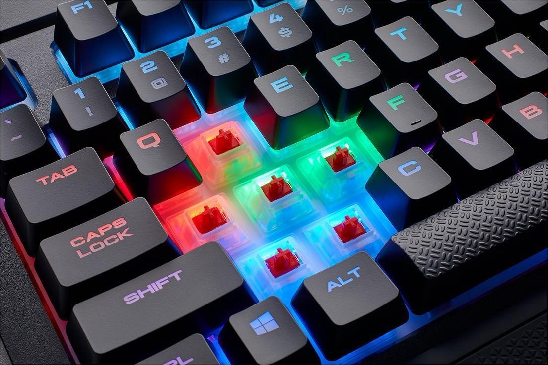 49688122a55 CORSAIR K68 RGB Mechanical Gaming Keyboard, Backlit RGB LED, Cherry MX Red,  Dust