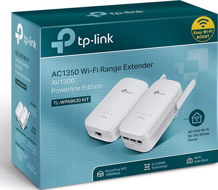 TP LINK AV1200 Gigabit Powerline Dual Band AC1200 Wi Fi Kit, Range Extender  Wi Fi Booster Hotspot wi