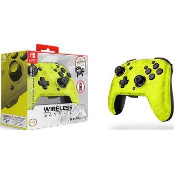 PDP Gaming Faceoff Wireless Deluxe Controller For Nintendo Switch (500-202-EU-CMYL) – Yellow Camo   500-202-EU-CMYL