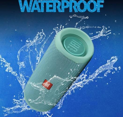 JBL Flip 5 Portable Waterproof Speaker, IPX7 - Teal   FLIP5-TL