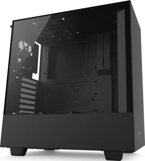 NZXT H510 Compact ATX Mid-Tower PC Gaming Case Front I/O USB Type-C Port Tempered Glass Side Panel Cable Management System Water-Cooling Ready Steel Construction Matte Black | CA-H510B-B1