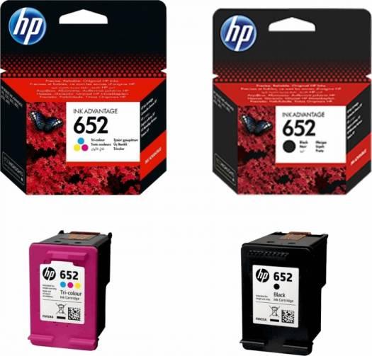 HP 652 Pack Black & Colors Ink Cartridge Set - Black/Yellow/Cyan/Magenta