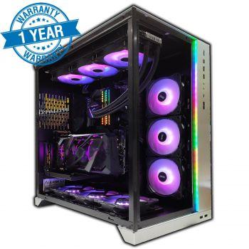Extreme Gaming PC 8K ( AMD 5900X 4.8 Ghz OC Liquid Cooled, RTX 3090 OC Edition, 64GB RAM OC, Dual x2 SN750 NVME SSD 1TB ,1000W Gold PSU , 360mm Liquid Cooler , Wifi 6 + Bluetooth 5.0 , 9x RGB Fans )