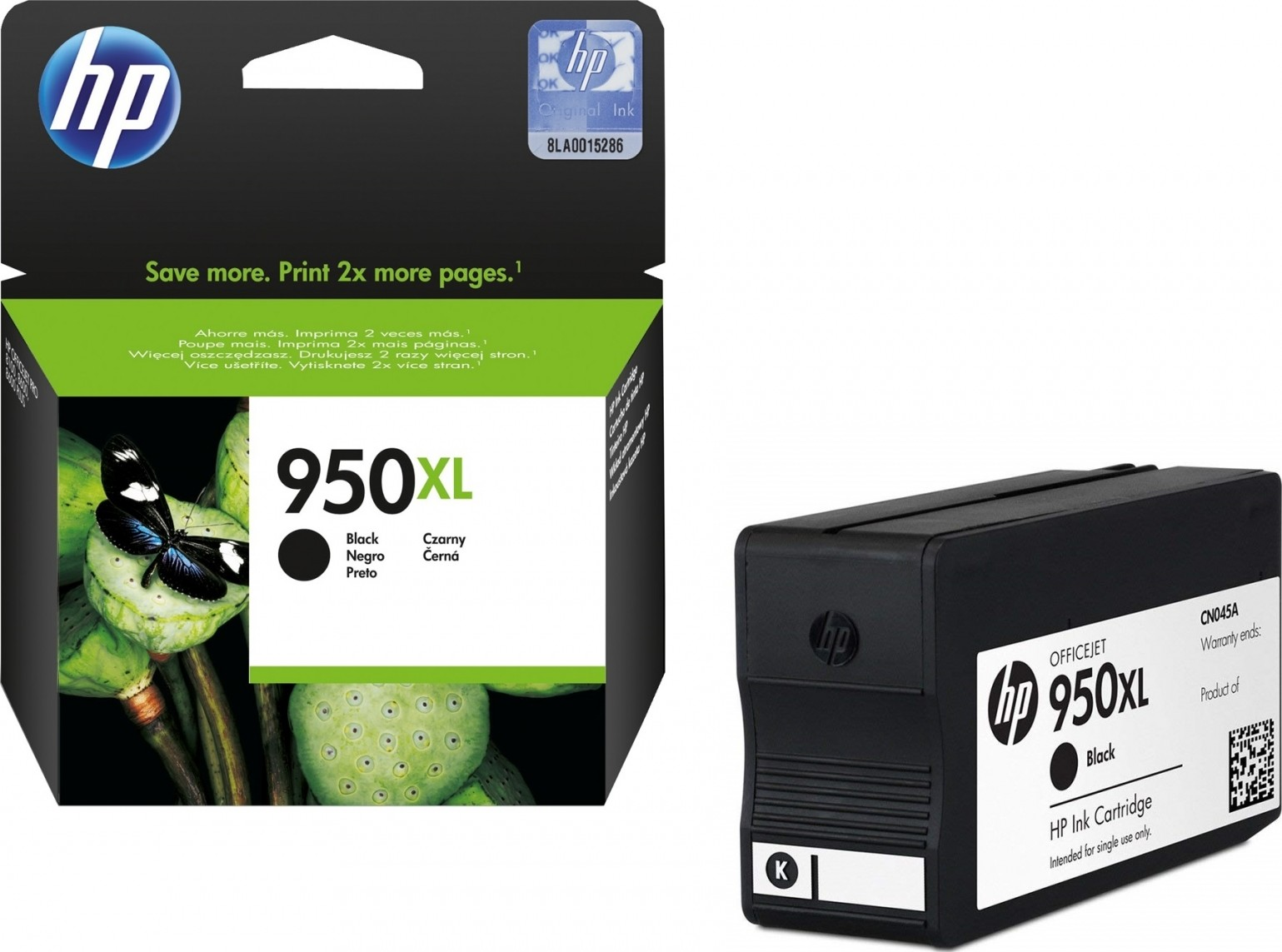HP 950XL Black Ink Cartridge Genuine New