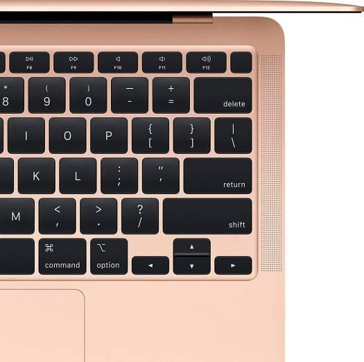 Apple MacBook - 1.1GHz Dual Core 10th Generation - i3 8GB 3733MHz - LPDDR4X Intel IRIS Plus Graphics 256GB T-ID - Gold | MWTL2