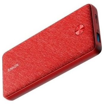 Anker PowerCore Essential 20,000mAh  PD Power Bank - Fabric Red   AN.A1281H91.RD