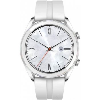 "Huawei Watch GT (Elegant) Smartwatch, 1.2"" AMOLED Touch Screen GPS Fitness Tracker Heart Rate Monitor, 5 ATM Waterproof - White"