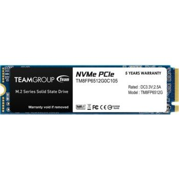 Team Group MP33 M.2 2280 512GB PCIe 3.0 x4 with NVMe 1.3 3D NAND Internal Solid State Drive (SSD) | TM8FP6512G0C101