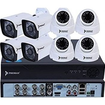 Premax 1.3 Mega Pixel 8-Channel AHD DVR (Digital Video Recorder Kit) | PM-DVRKIT138