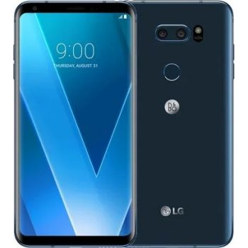 Renewed - LG V30 Single SIM Mobile Phone, 4 GB RAM, 64 GB Storage - Blue   14175