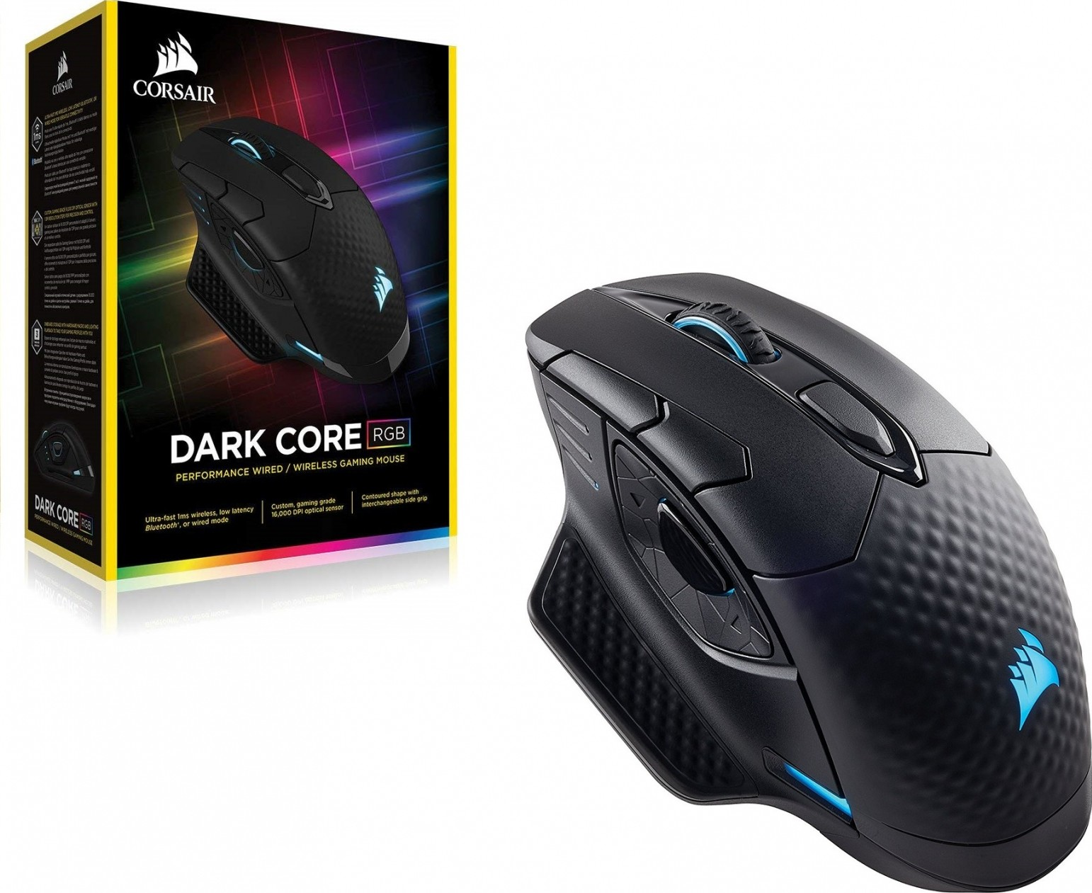 f808e9d0fca Corsair DARK CORE RGB Performance Wired / Wireless Gaming Mouse (EU) –  Black