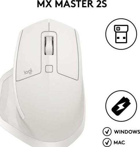 Logitech MX Master 2S Wireless Mouse Light Grey 910 005141 910 005138