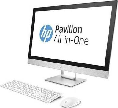 "HP Pavilion All-in-One 27-R029 (i7-7700T, 12GB RAM, 1TB HDD + 16GB SSD, 27"" Display with Touch, DVD, Windows 10 Home, Wireless English Keyboard and Mouse) 