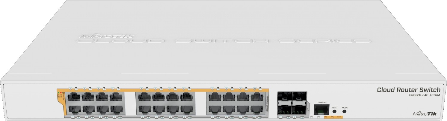 Mikrotik CRS328 24P 4S+RM 24 port Gigabit Ethernet router switch with four  10Gbps SFP+ ports in 1U r