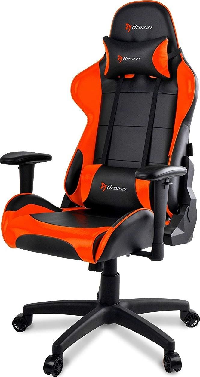 Awe Inspiring Arozzi Verona V2 Or Advanced Racing Style Gaming Chair With High Backrest Recliner Swivel Tilt R Machost Co Dining Chair Design Ideas Machostcouk